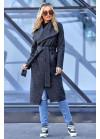 Облегченное пальто без подкладки графитовое