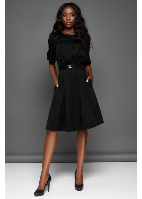 Отличное платье с юбкой полусолнце черного цвета