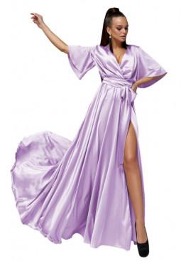 """Модное вечернее платье Ариада из шелка """"Армани"""" с красивым переливом, фиалковый"""