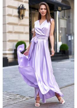 Стильное платье Фурор из королевского шелка, фиалковый