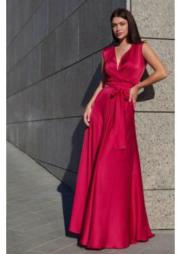 Стильное платье Фурор из королевского шелка, красный