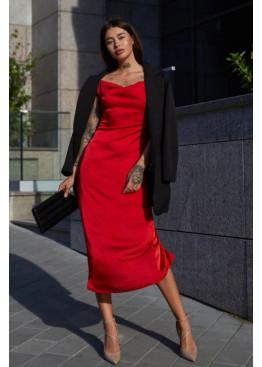 Приталенное платье Калипсо  с разрезом и тонкими регулируемыми бретелями, фисташка