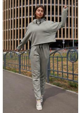 Прогулочный костюм Стинг серо-оливковый