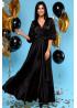 """Роскошное вечернее платье из шелка """"Армани"""", Черный"""