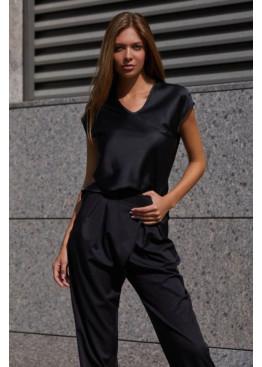 Блуза  из шелковой ткани Маер М21 черный