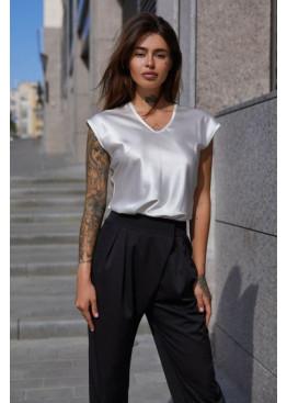 Блуза  из шелковой ткани Маер М21 белый