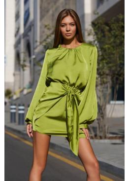 Маленькое шелковое платье Мири, фисташка
