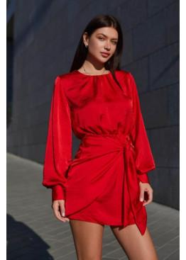 Маленькое шелковое платье Мири, красный