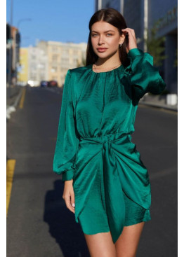 Маленькое шелковое платье Мири, зеленый