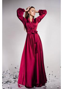 """Элегантное вечернее платье из шелка """"Армани"""" Shine, винный"""