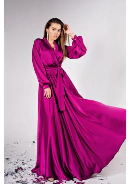 """Элегантное вечернее платье из шелка """"Армани"""" Shine, фуксия"""