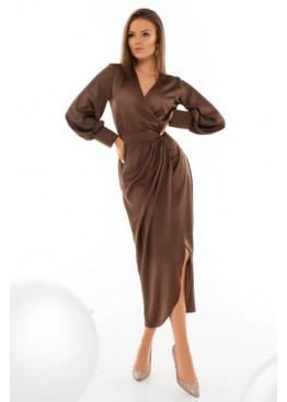 Шелковое платье насыщенного оттенка Силк М20 шоколад