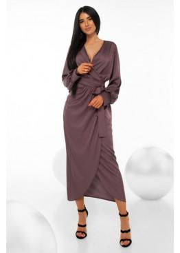 Шелковое платье насыщенного оттенка Силк М20 черника