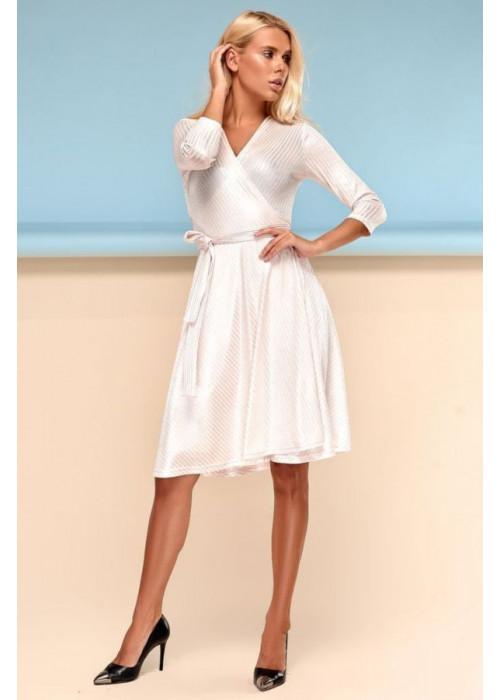 Шикарное платье на запах с юбкой полу-солнце