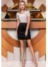 Стильная черная замшевая юбка в форме легкой трапеции