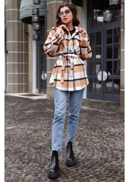 Пальто-рубашка Нетти горчица