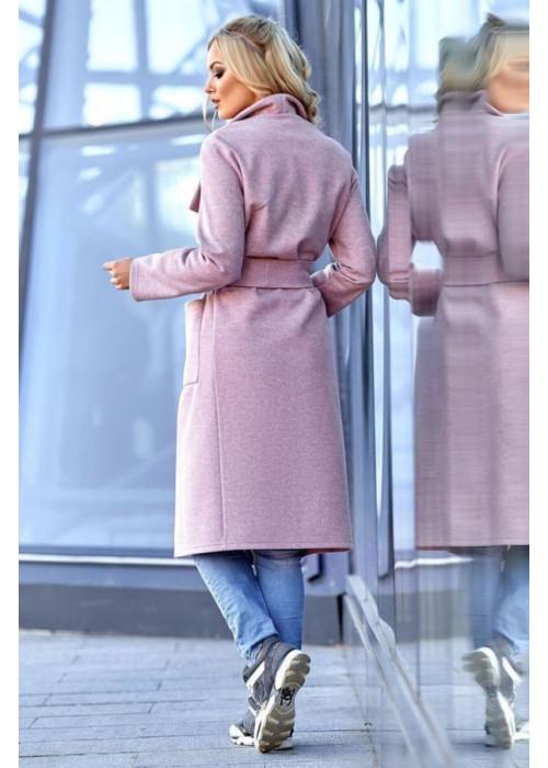 Облегченное пальто без подкладки лиловое