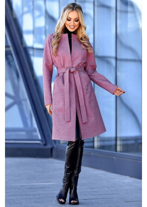Облегченная модель пальто из кашемировой ткани