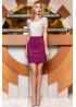 Стильная сливовая замшевая юбка в форме легкой трапеции