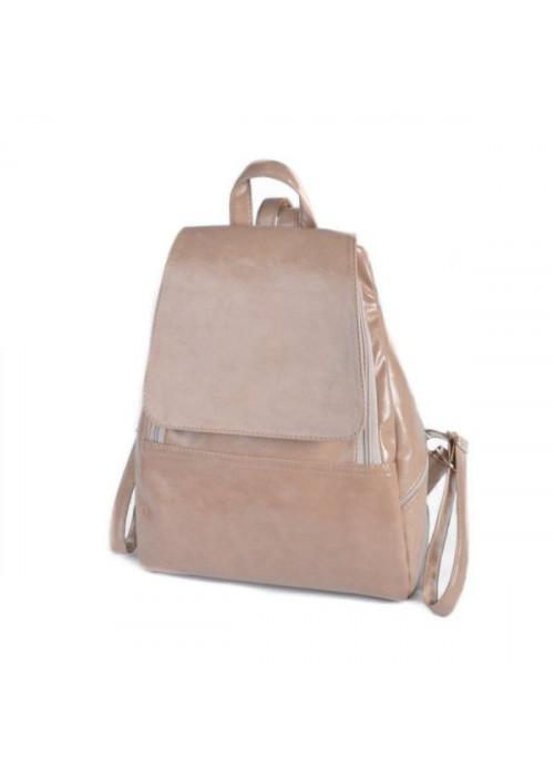 Женский повседневный рюкзак, кофейный, эко-кожа