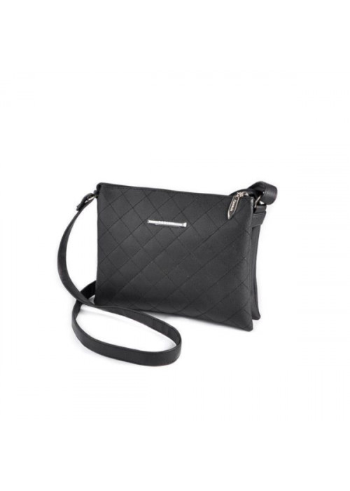 Женская сумочка-шанель через плечо, черная