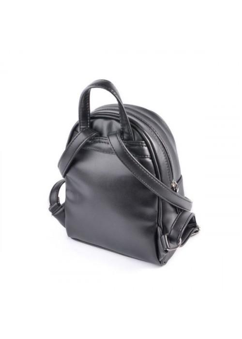 Женский маленький рюкзак, черный, эко-кожа