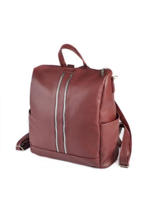 Женская сумка-рюкзак, бордо