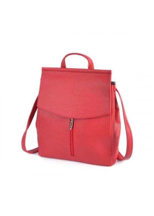 Женский рюкзак-трансформер, красный, эко-кожа