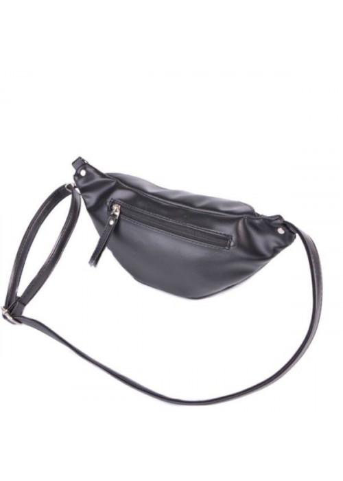 Женская сумка на пояс, бананка, черная