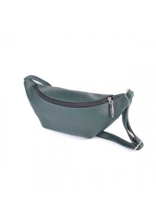 Женская сумка на пояс, бананка, зеленая