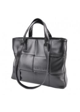 Женская повседневная сумка, черная эко-кожа