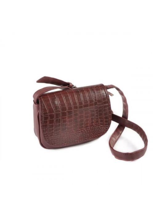 Женская сумочка с тиснением, бордо