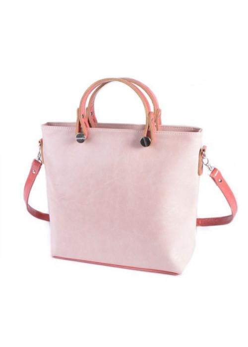 Лаконичная и универсальная сумочка без лишних деталей, пудра-коралл