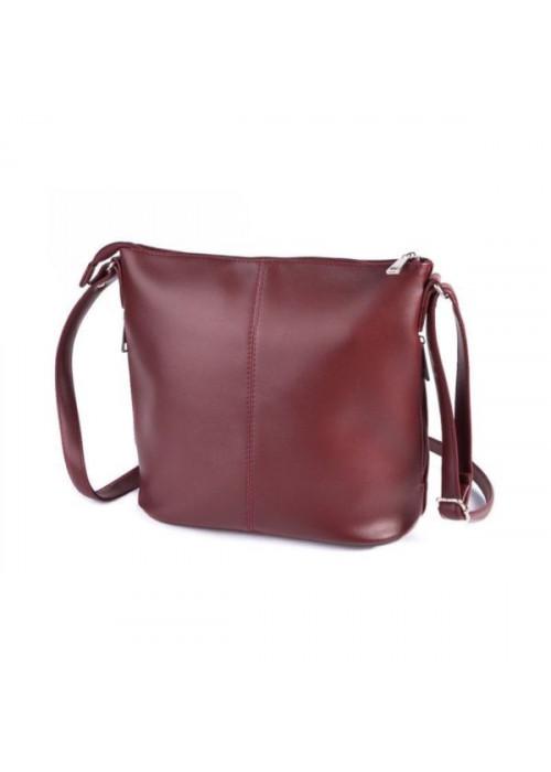 Классическая бордовая сумка через плечо