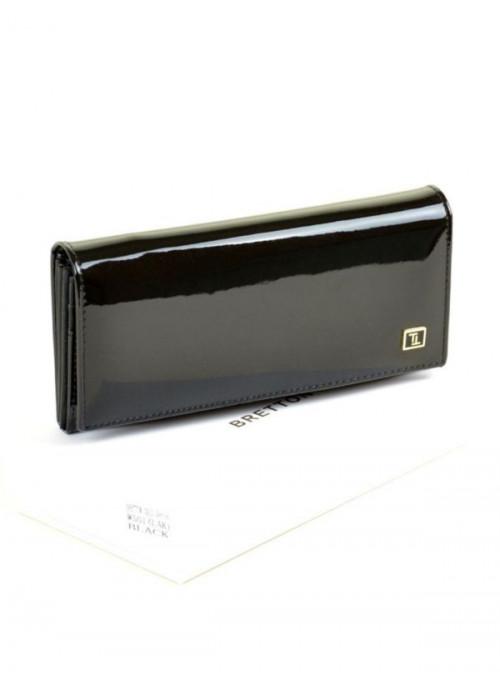 Женский лаковый кошелек Bretton, черный