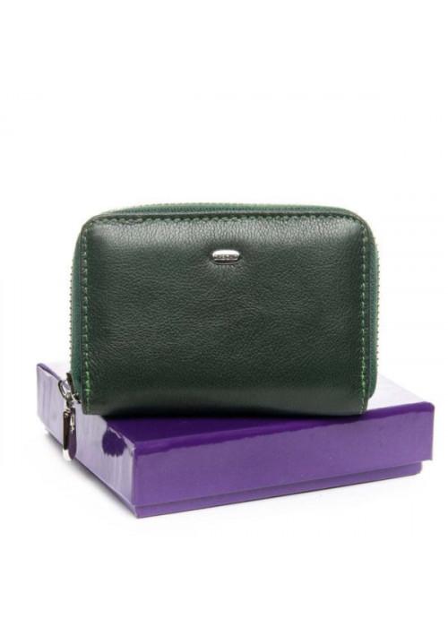 Женский кожаный кошелек BOND, зеленый