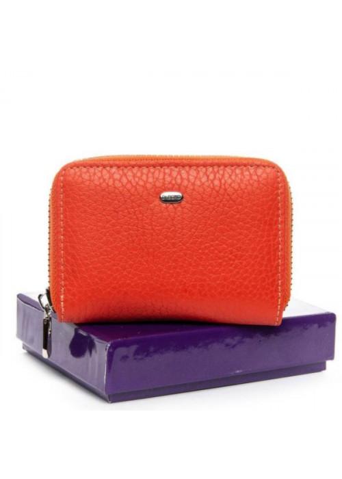 Женский кожаный кошелек BOND, оранжевый