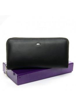 Большой женский кошелек  из мягкой натуральной кожи, черный