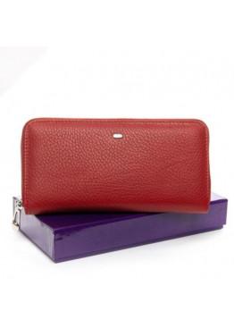 Большой женский кошелек  из мягкой натуральной кожи, красный