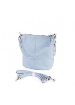 Женская кожаная сумка через плечо М246 light blue