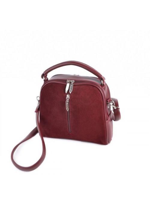 Замшевая сумочка с ремешком через плечо