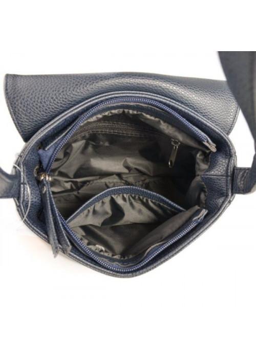 Женская сумочка с замшевым клапаном