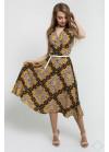 Платье А-силуэта без рукавов из легкого материала, лео