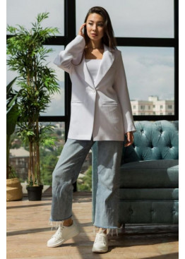 Пиджак свободного кроя Амелия, Белый