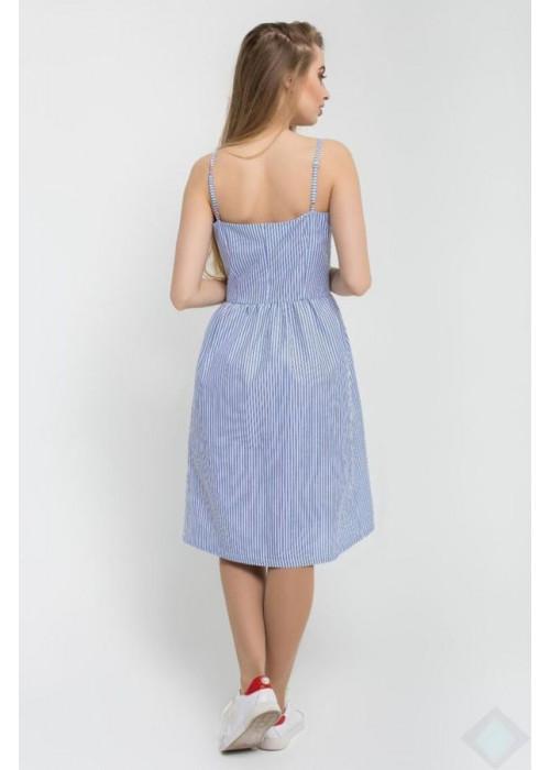 Легкий летний сарафан «Марлен» из натуральной ткани, полоска