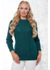Эксклюзивный свитер в большом размере изумрудного цвета