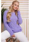 Эксклюзивный свитер в большом размере фиалкового цвета