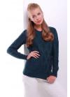 Стильный изумрудный женский свитер