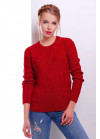 Стильный красный женский свитер