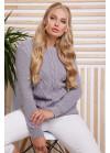 Эксклюзивный свитер в большом размере серого цвета